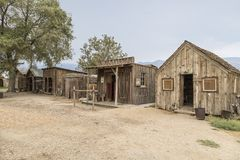 Laws Ghost Town. Makeshift ghost town at Laws Rail Road Museum in Bishop, CA royalty free stock photo