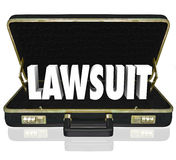 Lawsuit Briefcase Legal Court Case 3d Words Stock Images