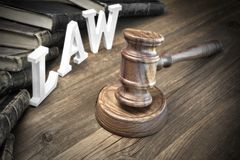 Lawsuit Concept With Sign Law And Judges Gavel Royalty Free Stock Photography