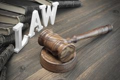 Lawsuit Concept With Sign Law And Judges Gavel Royalty Free Stock Photo