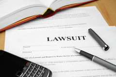 Lawsuit doc Royalty Free Stock Photos