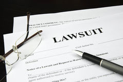 Lawsuit form Stock Photos