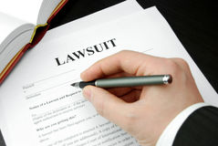 Lawsuit form royalty free stock image