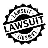 Lawsuit rubber stamp Royalty Free Stock Image