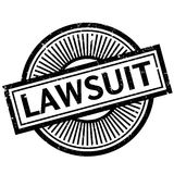 Lawsuit rubber stamp Royalty Free Stock Images