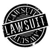 Lawsuit rubber stamp Stock Photos