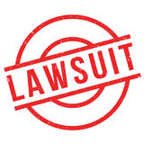 Lawsuit rubber stamp Royalty Free Stock Photography