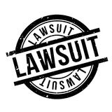 Lawsuit rubber stamp Royalty Free Stock Photo
