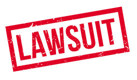 Lawsuit rubber stamp Stock Photo