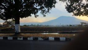 Lawu góry krajobraz fotografia stock