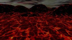 Lawy krajobrazowa 3D animacja
