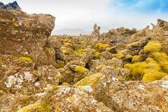 Lawy skała w Iceland Fotografia Royalty Free