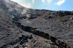 Lawy ziemia na Vulcano wyspie Fotografia Royalty Free