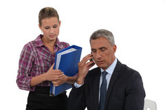 Lawyer and assistant Royalty Free Stock Image