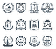 Lawyer Black White Logo Set Stock Images