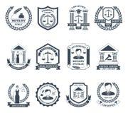 Lawyer Black White Logo Set Stock Images