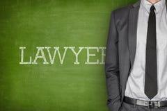 Lawyer on blackboard Royalty Free Stock Photos