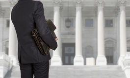 The lawyer with a briefcase Stock Photo