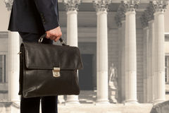 The lawyer with a briefcase Stock Image