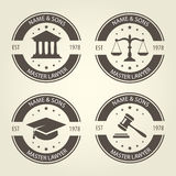 Lawyer bureau emblems and labels Stock Photos