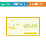 Lawyer business card icon Royalty Free Stock Photos