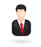 Lawyer businessman avatar. Illustration of businessman or lawyer as isolated icon or avatar Stock Photography