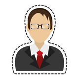 Lawyer character avatar icon Stock Image