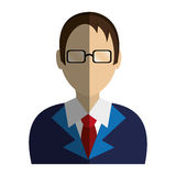Lawyer character avatar icon Royalty Free Stock Photo