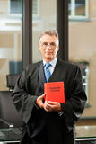 Lawyer with civil law code Royalty Free Stock Photos