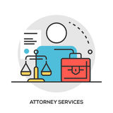 Lawyer concept. Modern line style concept Stock Photo