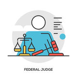 Lawyer concept. Modern line style concept for web banners. Royalty Free Stock Images