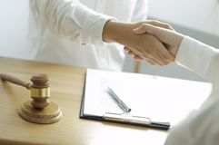 Lawyer Consultation job office for business cooperation. stock photo