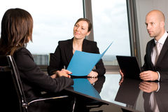 Lawyer consultation in an office Stock Photo