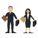 Lawyer Couple. Vector illustration of a couple of young lawyers Stock Images