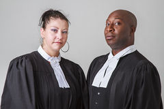Lawyer couple Stock Image