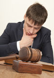 Lawyer in court Royalty Free Stock Image
