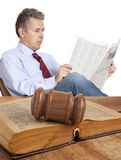 Lawyer in courtroom Stock Photo