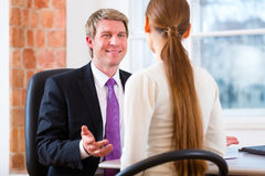 Lawyer with Customer Stock Photo