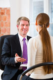 Lawyer with Customer stock image
