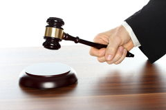 Lawyer deliver a judgement Stock Images