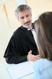 Lawyer discussing with his client Royalty Free Stock Image
