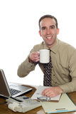 Lawyer Drinking Coffee Stock Images