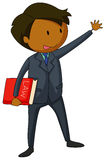 Lawyer. In formal clothing holding law book Royalty Free Stock Image