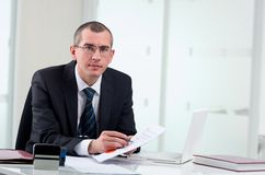 Lawyer on his workplace Royalty Free Stock Photos