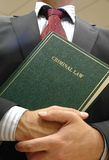 Lawyer holding book stock image
