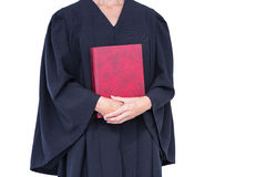 A lawyer holding law code. On white background Stock Image