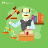 Lawyer icons concept Stock Photography