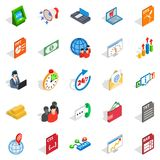 Lawyer icons set, isometric style. Lawyer icons set. Isometric set of 25 lawyer vector icons for web isolated on white background Royalty Free Stock Photography