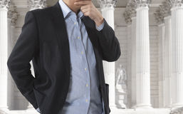 Free Lawyer In Front Of Courthouse Stock Images - 40484104