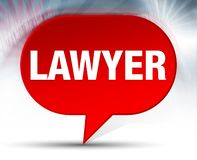 Lawyer Red Bubble Background royalty free illustration
